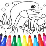 Dolphin and fish coloring book 16.3.2 APK  (Unlimited Money)