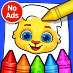 Coloring Games: Coloring Book, Painting, Glow Draw MOD APK  1.1.5 (Unlimited Money)