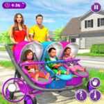 New Mother Baby Triplets Family Simulator MOD APK  1.1.8 (Unlimited Money)