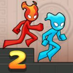 Fire and Water Stickman 2 : The Temple MOD APK  (Unlimited Money)
